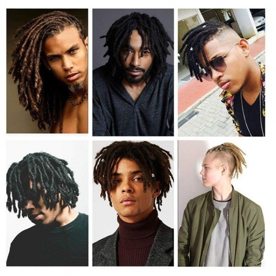 6 Inches Short Dreadlock Extensions For men