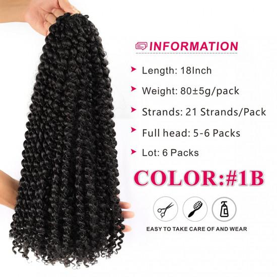 18 Inch Passion Twist Crochet Hair