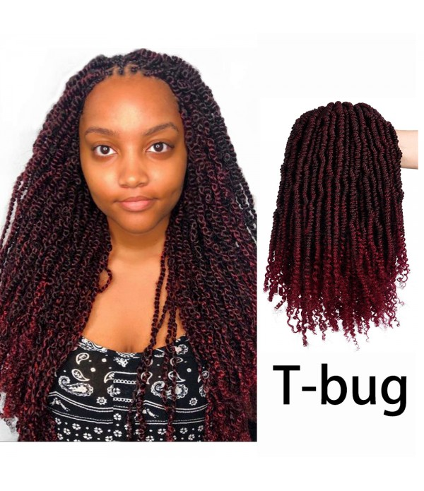 Spring Twist Hair 4colors crochet curly hair Bomb Twist Braiding Hair Extension 3 Pack Spring Twist Crochet Braids