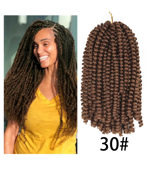 3 Pack Spring Twist Crochet Braids Bomb Twist Crochet Hair Ombre Colors Synthetic Fluffy Hair Extension 8inch 110g
