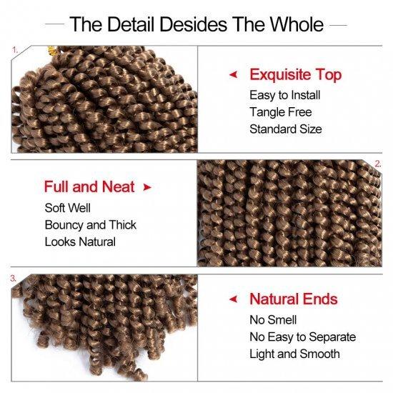 8 Inch Spring Twist Crochet Hair