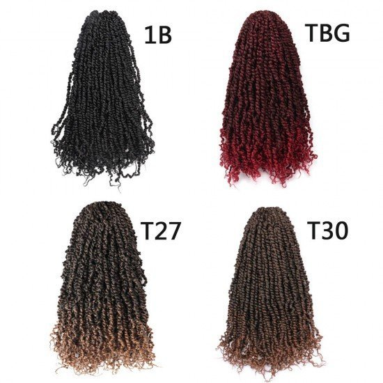 18 Inches Pre-twisted Passion Twists Crochet Hair