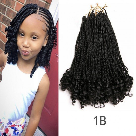 14 Inches Goddess Box Braids Medium With Curly Ends