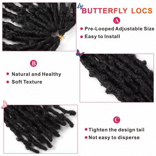 12 Inch Butterfly Locs Crochet Hair
