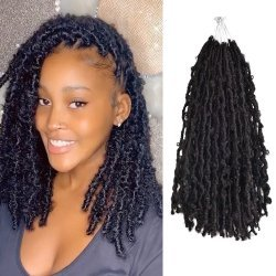 Butterfly Locs Distressed Bob Faux Locs Hair