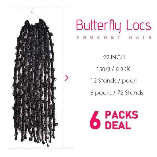 Butterfly Locs Distressed Bob Faux Locs Hair