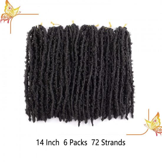14 Inch Butterfly Locs Crochet Hair