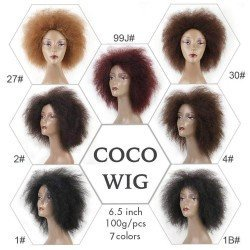 Short Kinky Curly Afro COCO Wigs