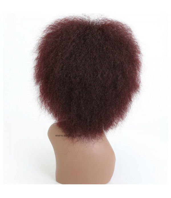 Hair Synthetic Short Kinky Curly Afro Wig Super Fluffy Wigs for Women 100g/Piece (Color 99J#)