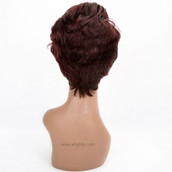 Short Curly Wave Synthetic Bangs Wigs
