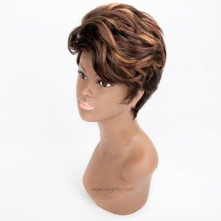 Short Curly Wave Synthetic Wigs