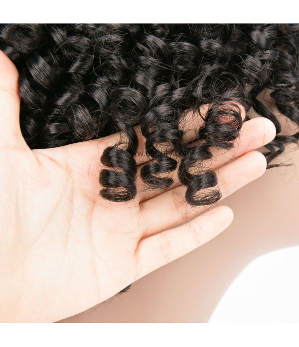 Afro Kinky Curly Wig Synthetic Wigs for Black Women Heat Resistant Fiber Kinky Curly Full Wigs (Color 1B)