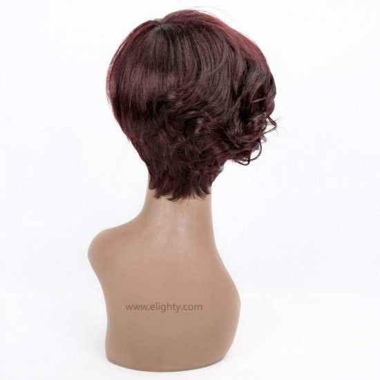 Short Cute Red Wig For Black Woman