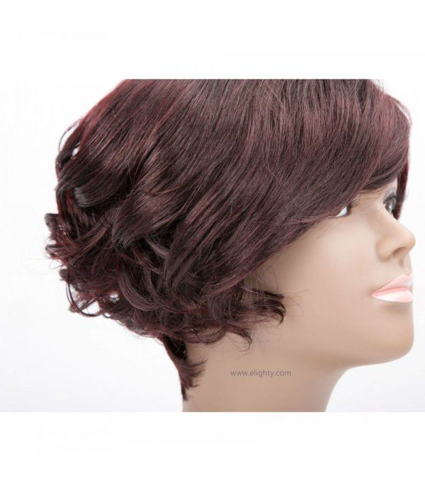 Short Pixie Cut Wig Short Synthetic Hair Wigs For Women (Color 99J#)