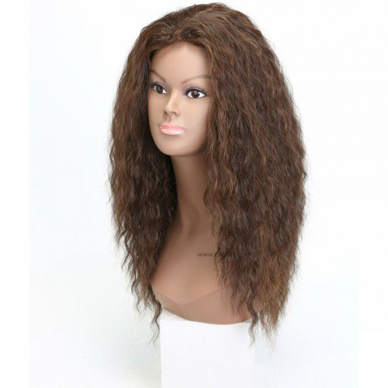 1B Kinky Curly Long Synthetic Wigs