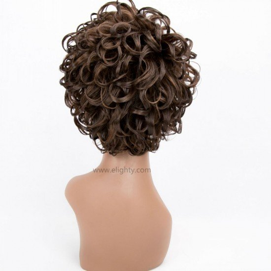 Short Charming Synthetic Brown Wigs