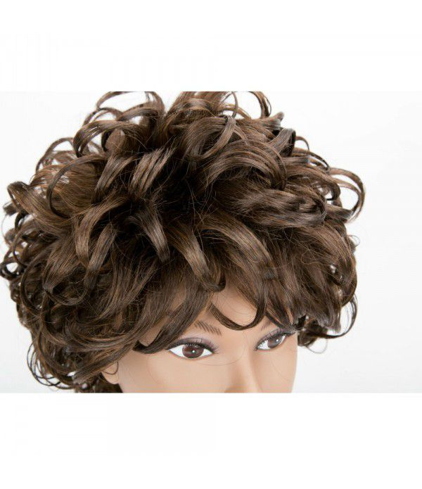 Charming Wigs New Fashion Women Short Full Hair Wig 2 Tone Color for Women Kanekalon Natural Hair Wigs (Color FS4/30#)