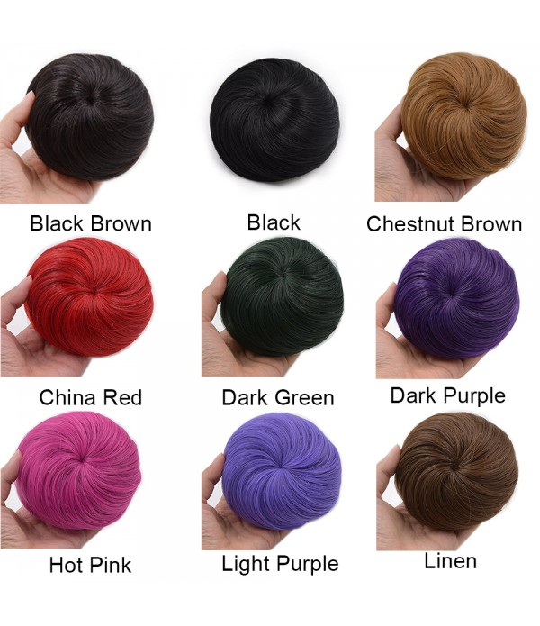 Synthetic Fiber Hair Bun Extension Chignon Donut S...