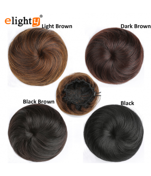 Synthetic Fiber Hair Bun Extension Chignon Donut Scrunchie Wig Hairpiece