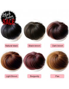 Human Hair Bun scrunchies Donut Wigs Comfort Fit Hairpiece Extension