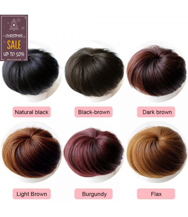 Human Hair Bun scrunchies Donut Wigs Comfort Fit H...