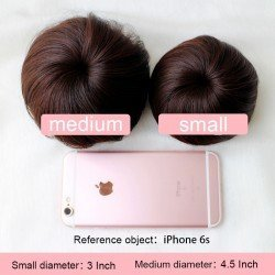 Human Hair Bun Donut Hairpiece