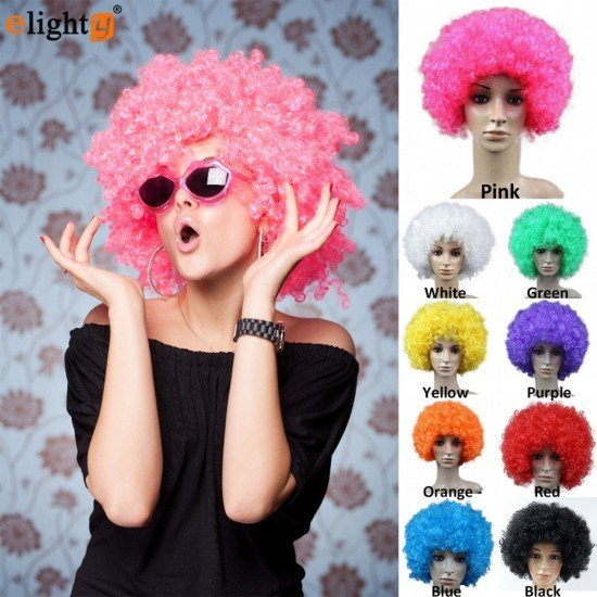 Afro Clown Funny Wigs Halloween Party