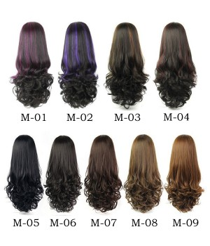 U Part Wig | Clip In Hair | Long Curly Hair | High Temperature Fiber 9 Colors For Women