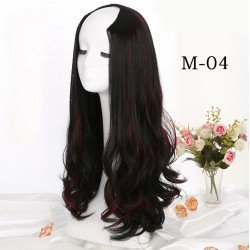 24 Inches Long Curly U Part Fiber Wigs