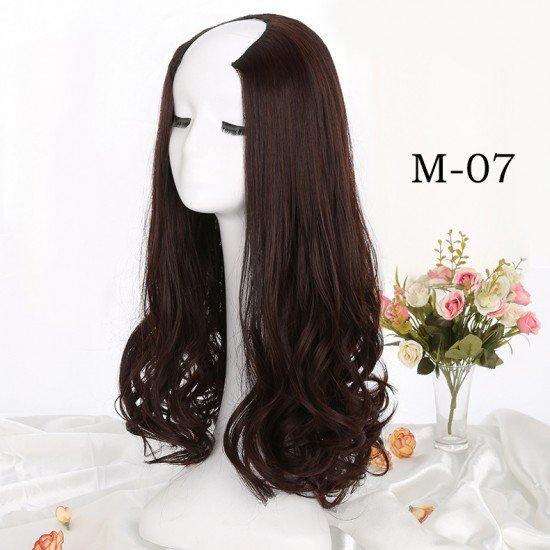 24 Inches Long Curly U Part Fiber Wigs