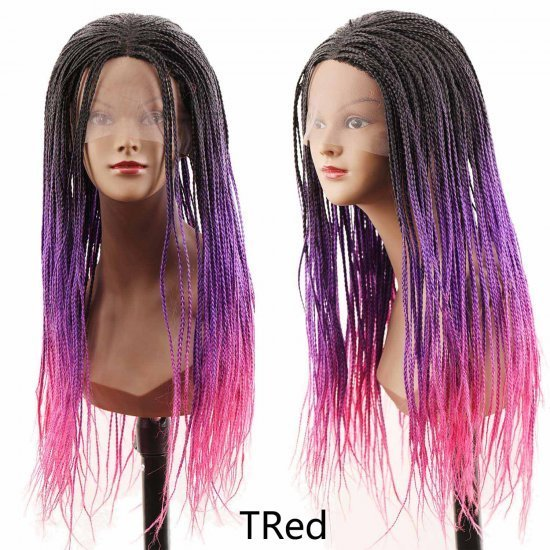 24 Inches Synthetic Lace Front Wigs Box Braids