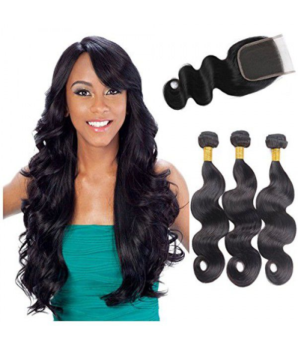 Brazilian Body Wave, 8A Virgin Human Hair Weaves B...