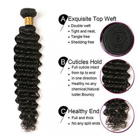 3 Bundles Brazilian Deep Wave Hair