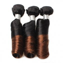 3 Bundles Spring Curl Hair Lace Closure