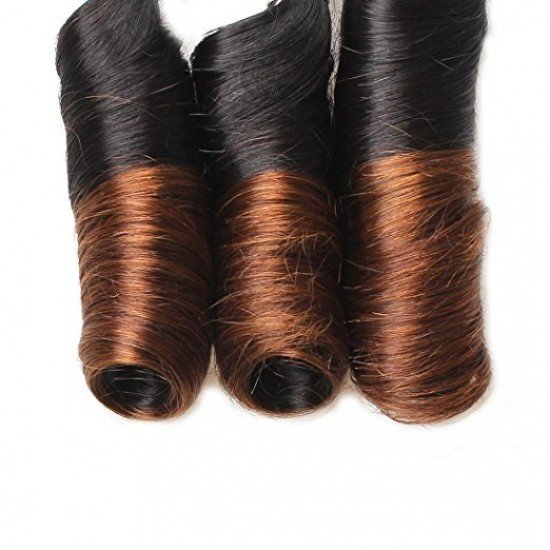 3 Bundles Spring Curl Hair Lace Closure