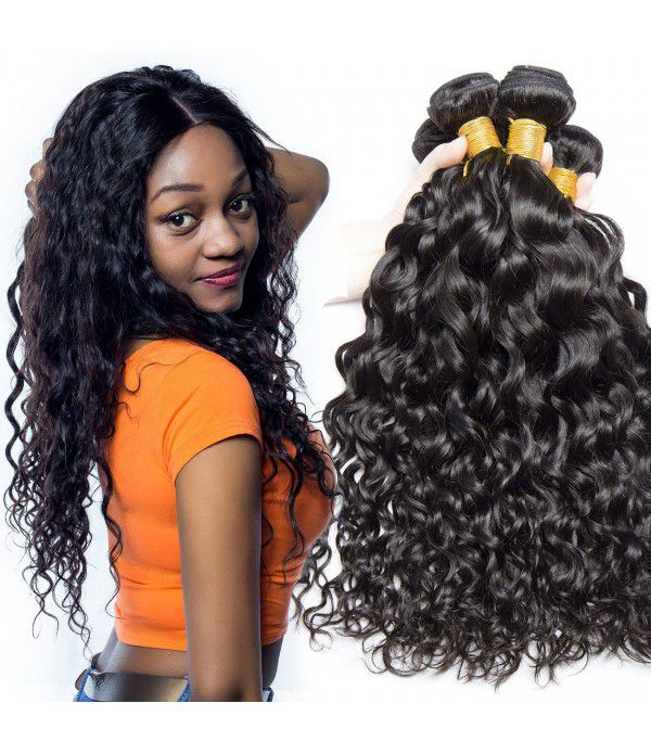 8A Grade Brazilian Water Wave Virgin Hair 3 Bundle...