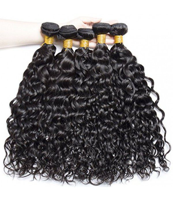 Grade 8A Brazilian Virgin Hair, 3 Bundles Deep Wave Hair Natural Color
